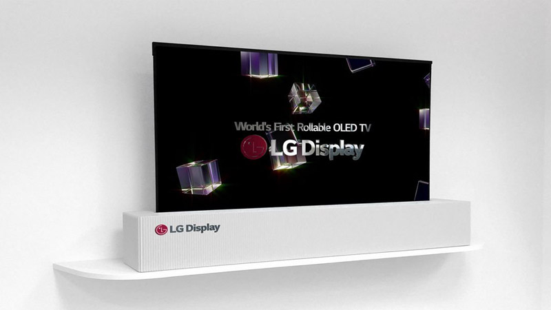 LG Display  65-inch rollable OLED TV