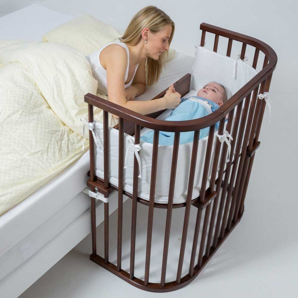 1494371675babybay-Bedside-Sleeper-Cosleeper-Bassinet-Mommy-With-Baby-Stained